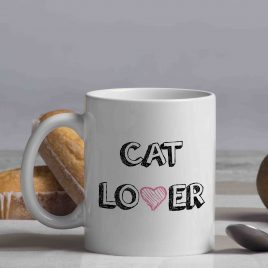 "Taza ""Cat Lover"""
