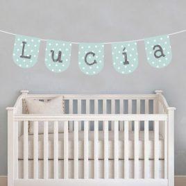 Banderines nombre bebé