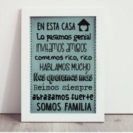 """Lámina """"En esta casa"""""""