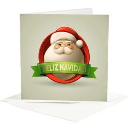 """Postal Papá Noel """"Feliz Navidad"""""""