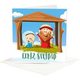 "Postal Belén ""Feliz Navidad"""