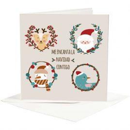 """Postal """"Me encanta la Navidad contigo"""""""