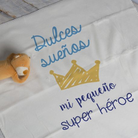 MANTA DULCES SUEÑOS MI PEQUEÑO SUPER HEROE MAYUKI